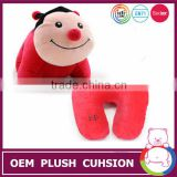 EN71 toy 2 in 1 popular red beetles soft animal toy cushion