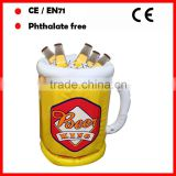 Summer BBQ promotional inflatable beer ice buckets