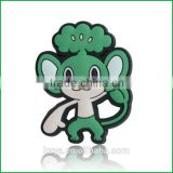 Eco-friendly soft pvc cartoon decorative christmas stickers