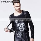 S-155 new design Punk Rave gothic man rivet straps accessory