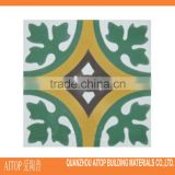 Green flower texture orient cement tile interior flooring cladding cement tile high quality wholesale cement 150x150mm China