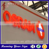 Waterproof Full Light Acrylic LED Sign Letters for Outdoor Use