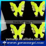 3D Butterfly Nail Art Stickers Alloy Jewelry Glitter DIY Nail Decoration Fluorescent Green Nail Sticker L0061