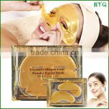 2015 HOT selling products Face Care Crystal Collagen Gold Powder Eye Mask & Facial Mask with OEM serivce