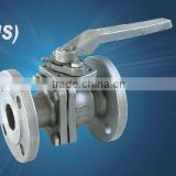 houde stainless steel products co.,ltd 2-pc flanged ball valve ,JIS standard