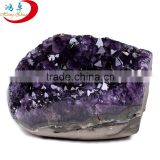 wholesale real natural rough small size amethyst crystal geode stone/fengshui ornamental stone/raw crystal stone