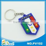Wholesale banner shaped soft pvc key ring