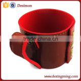 2015 oem& odm synthetic pu leather cup sleeve cover with handle cup sleeve custom design