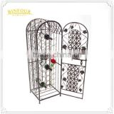 Christmas wine rack wall metal wire wine display rack storage Buckets, Coolers & Holders
