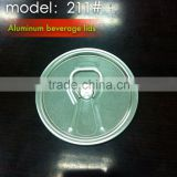 211#(65.3mm) Aluminum beer/juice easy open end can lid
