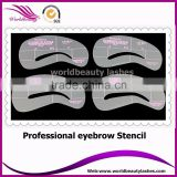 Hot sell Make up tools 4 types per pack eyebrow stencil                                                                                                         Supplier's Choice