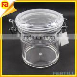 WFZ107434 High transparent acrylic seal jar with lid