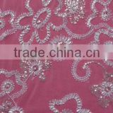 Guangzhou Beaded Sequins Lace Fabric