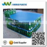 pp corrugated plastic pannel with sealed edged and round corner for packaing glass bottle