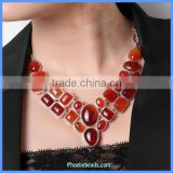 2014 New Arrival Red Carnelian Wholesale Gemstone Chip Bead Necklaces GN-N014