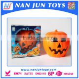 Plastic Electric Halloween Decoration Pumpkin Light With Sound Effect