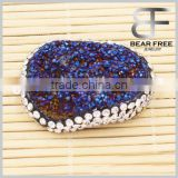 New Design Fashion Natural Drusy Agate Druzy Pendant Multicolor One Hook