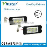 For Mini R56 license plate lamp auto Accessory 18SMD DC12V LED License Plate Light For BMW Mini R56