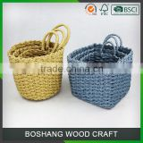 2016 Wholesale Woven Plastic Paper Wicker Seagrass Basket                                                                         Quality Choice