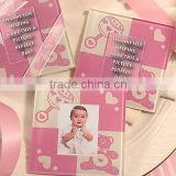 Wholesale Photo Frame Type and glass Material Pink Cute Baby girl Photo Frame for baby shower