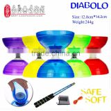 China YOYO Ball Soft Diabolo 1 or 3 Bearing Set Packing Kongzhu (Dia. 128 mm Cup/ Sticks/ String Bag/ spare String)