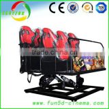 Canton Fair Crazy 8D/9D/Xd Cinema 3D Glasses 6/9/12 Seats 7D Rider Simulator Cabin 12D Cinema