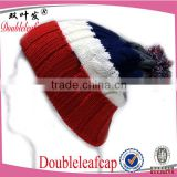 Hot wholesale cashmere beanie hats with custom woven label