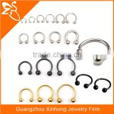 Stainless steel penis lip eyebrow ears piercing horseshoe ring circular barbell bulk different colours