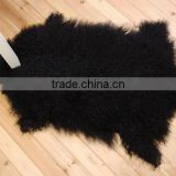 Long Curly Fur Mongolian Sheep Skin / Tibetan Lamb Skin Pelt