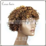 cheap wholesale price High Temperature Fiber synthetic wig futra fiber short kinky curl afro curl Wig