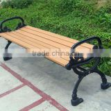 HDPE bench chair with cast iron park bench legs