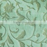 foil printed pu coated soft velboa fabric