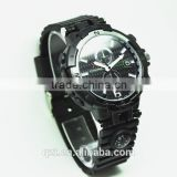 H.264 night vision HD 720P LED light hidden camera wrist watch with page rotating