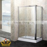 Luxury aluminum frame square sliding door shower enclosures with side panel