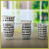 Wholesale glass mosaic mirror vase