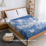 high quality organic cotton knitted throw blanket mutiple pattern