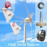 1kw silent wind turbine with unique neodymium iron boron permanent magnetic material