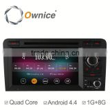 Quad Core Android 4.4 & Android 5.1 Car Audio GPS Navi system for Audi A3 S3 with Wifi FM RDS