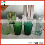 Custom Pantone Color Drinking Glassware Different Types Clear Blue & Green Tinted Shot Glass