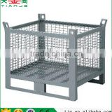 TJG high quality 1000kg Load Wire Mesh Containers Stackable Storage Cage Metal Storage Box