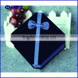 black Velvet Jewelry boxk with ribbon