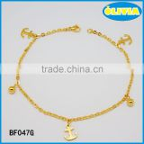 Olivia Jewelry Stainless Steel Gold Anchor Charm Bracelet Jewelry