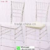 Quality factory supply transparent clear resin acrylic chiavari chair resin for wedding item: R1#