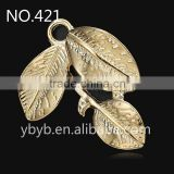 cheap leaf metal pendants for jewelry making,jewelry finding&component