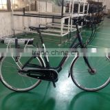 700c wheel city electric bicycle with bafang central motor 36V/18Ah li-ion battery +150km range per charger ( HJ-14C02 )