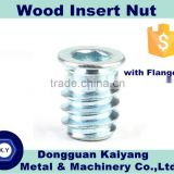 Insert Nut/ Insert Nut with flange (for wood); Bright(White)/Blue/Yellow Zinc Plated; Nuts and Bolts Size:M6, M8, M10