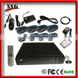 DIY intruder alarm and monitoring system support mobile remote view and auto dail to inform host
