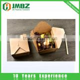 Disposable take away kraft paper lunch paper box