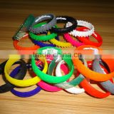 Promotional OEM Sport Wrist Band, Hot Sell Silicone Bracelets,Custom Colorful Silicon Wristband