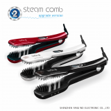 Salon Steam hair Straightening brush Iron Powerful Hair Straightener Digital Steampod Hair comb with Removable Water tan